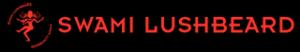 Swami Lushbeard - Red on Black Logo